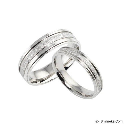 TITANIUM RING Cincin Couple Size 7(F) & 7(M) [GS275] - Silver & Silver - Cincin